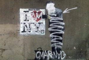 Banksyho maľby v New Yorku prestriekali domáci grafiťáci. Je to reakcia na jeho spor s londýnskym writerom Robbom.