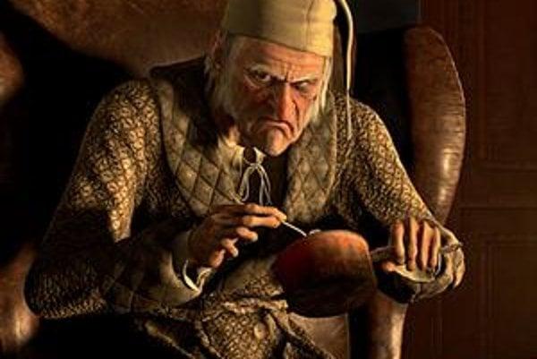 Jim Carrey, tentoraz ako skupáň Scrooge.