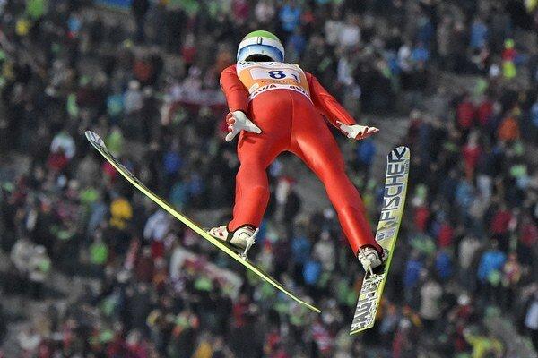 Rune Velta z Nórska počas súťaže.