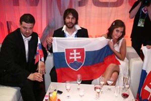 Slovenská dvojica krátko po svojom moskovskom vystúpení.