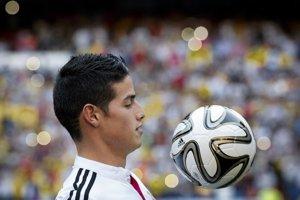 Nový hráč Realu Madrid, kolumbijská hviezda James Rodriguez.