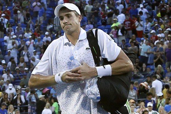Isner po zápase s Kohlschreiberom na US Open.