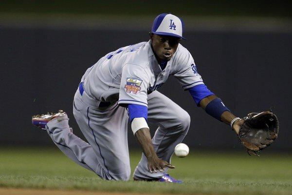Dee Gordon z National League hrajúci za Los Angeles Dodgers.