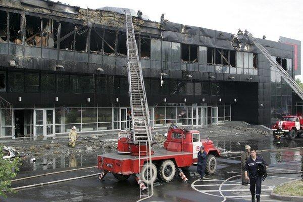 Hala v Donecku je zničená.
