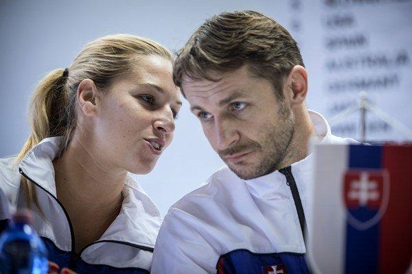 Dominika Cibulková s trénerom Matejom Liptákom.