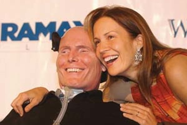 Christopher Reeve a manželka Dana.