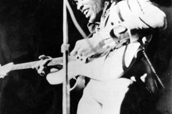 Jimi Hendrix na jednej z posledných snímok, v roku 1970.