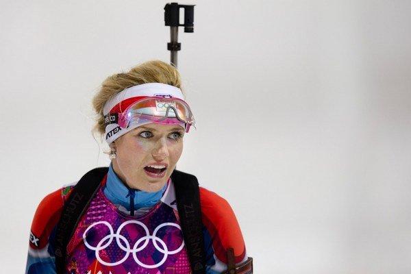 Česká biatlonistka Gabriela Soukalová skončila v stíhacích pretekoch štvrtá.