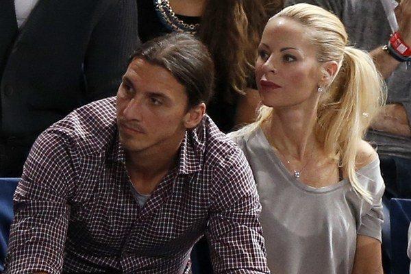 Tenisové finále sledovala aj futbalová hviezda Zlatan Ibrahimovič s partnerkou Helenou Seger.