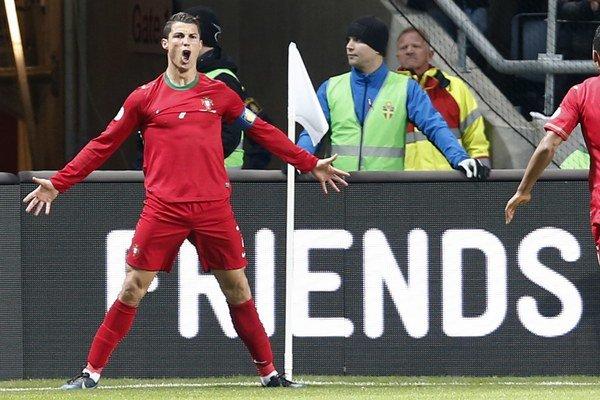Cristiano Ronaldo vystrieľal Portugalsku cestu na majstrovstvá sveta.