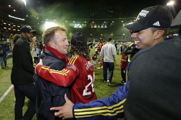 Tréner tímu Real Salt Lake Jason Kreis (vľavo). Ilustračná snímka.