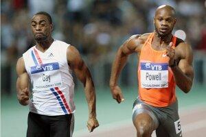 Tyson Gay (vľavo) a Asafa Powell