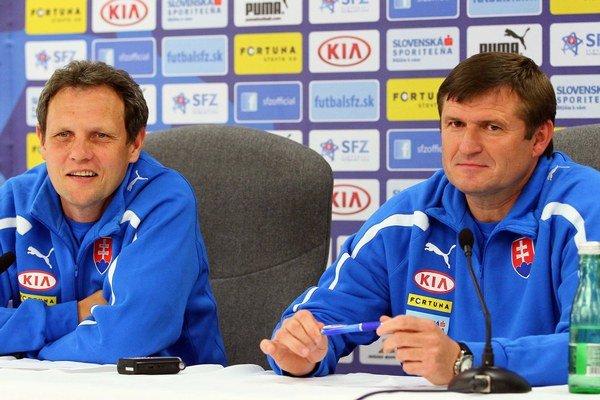 Tréneri slovenskej reprezentácie Michal Hipp (vpravo) a Stanislav Griga.