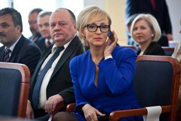 Trnavská krajská predsedníčka Smeru Renáta Zmajkovičová.