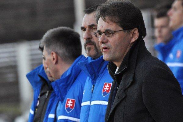 Hlavný tréner Slovenska 21 Ivan Galád.