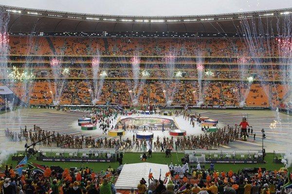 Otvárací ceremoniál Afrického pohára národov.