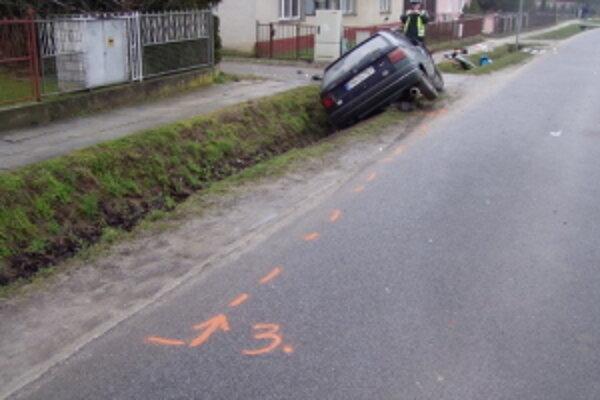 Miesto tragickej nehody.