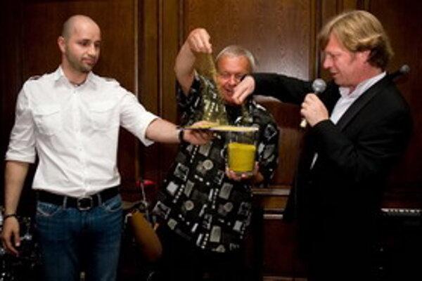Robo Opatovský, Zoro Laurinc a Maroš Kramár sa spolu stretli pri krste Marošovho debutového CD.