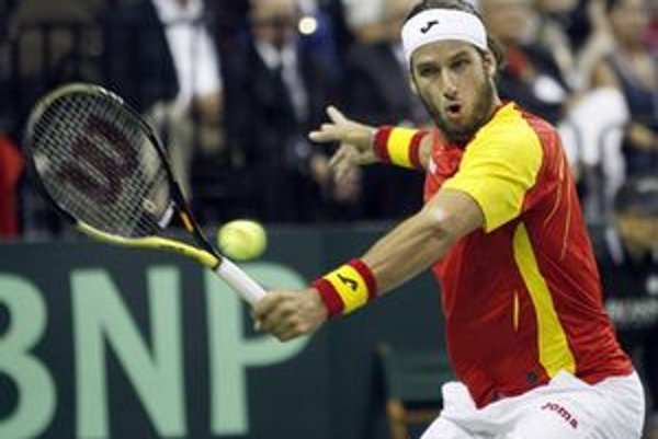 Španiel López počas zápasu s Fishom.