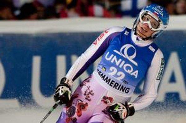 Veronika Zuzulová v cieli slalomu v Semmeringu.