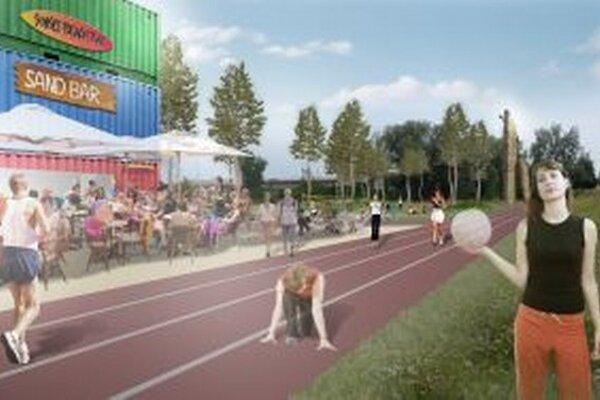 Návrh počíta s vytvorením miest na športovú rekreáciu.