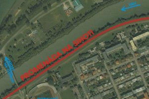 Ani z jednej trasy nie je v súčasnosti viditeľný Váh pre optickú bariéru v podobe neudržiavaných stromov.