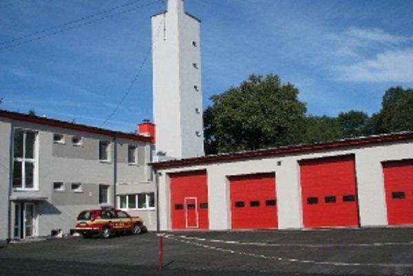 Zrekonštruovaná hasičská stanica v Myjave.