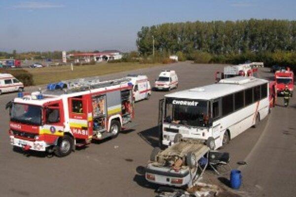Taktické cvičenie sa konalo na diaľničnom odpočívadle.