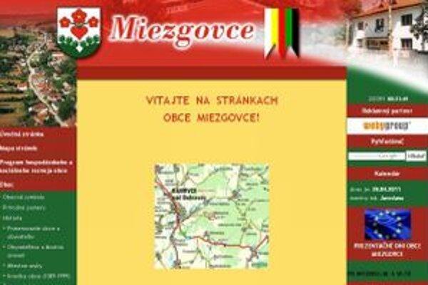 Webstránku obce spustili v  roku 2005