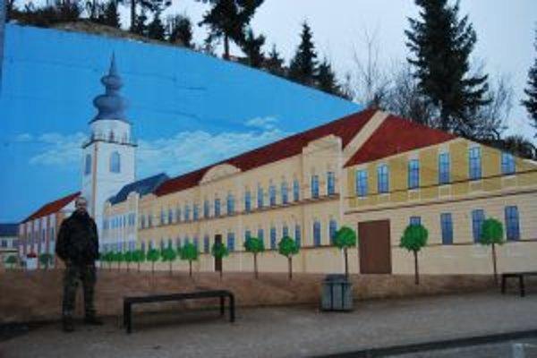 Peter Štefka namaľoval gigantický obraz Myjavy za pol roka.