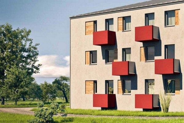 Country Style. Ministerstvo pôdohospodárstva ponúklo na výber obciam tri typy domov. Košický magistrát si vybral 3–podlažnú bytovku na snímke.
