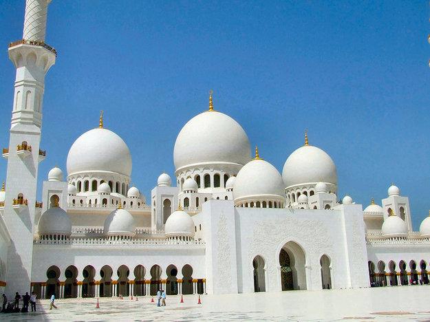 Veľká mešita šejka Zaída v Abú Zabí.