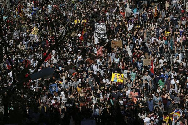 Išlo o celkove 22. demonštráciu proti reforme školstva v priebehu uplynulých štyroch rokov.