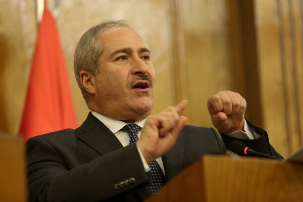 Jordánsky minister zahraničných vecí Násir Džúda.