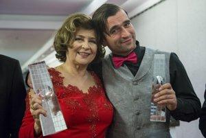 Milan Ondrík s Emíliou Vášaryovou