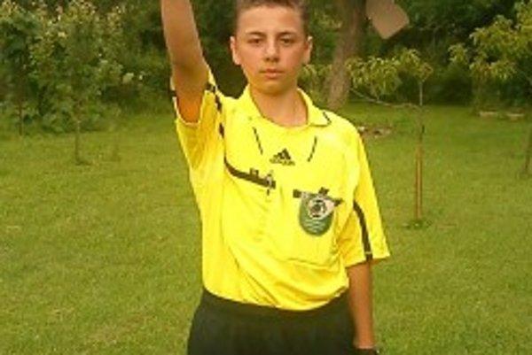 Matúš Dobrík - iba 14-ročný arbiter, rozhodoval už aj majstrovský zápas dospelých.