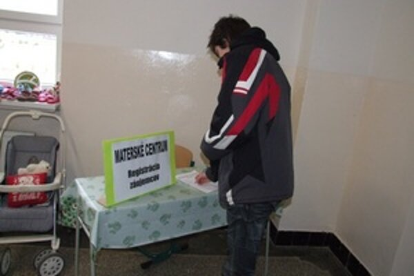 Záujem o vznik materského centra v Žarnovici mohli ľudia prejaviť svojím podpisom.