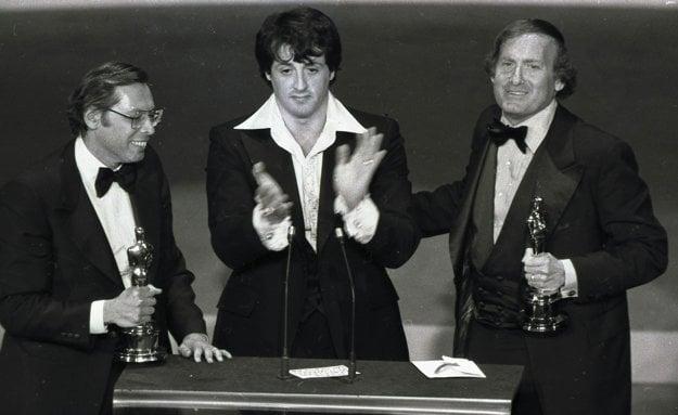 V roku 1977 na odovzdávaní Oscara za najlepší film Rocky.