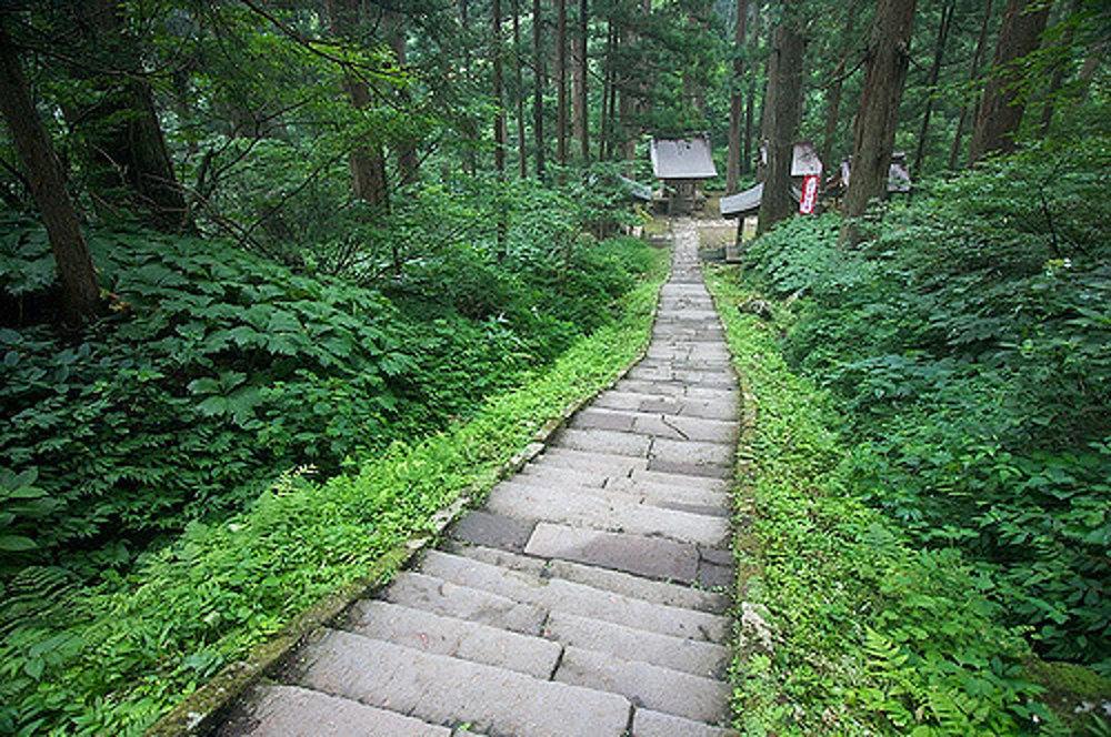 Na horu Haguro vedie takmer 2 500 schodov.