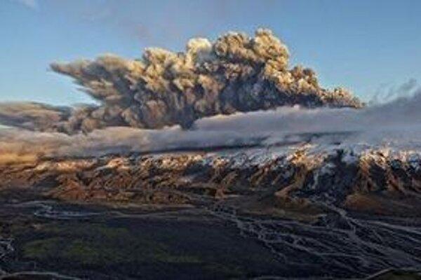 Sopka Eyjafjallajökull.