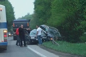Dnes ráno sa stala na hlavnom cestnom  ťahu I/11 ďalšia dopravná nehoda.
