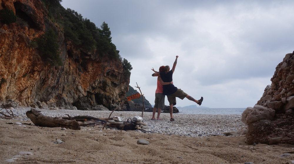 Lichnos Beach v Grécku.