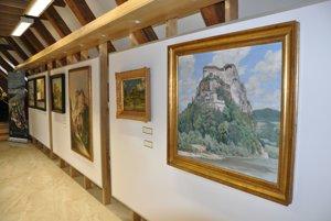Expozícia obrazov a kresieb Oravského hradu.