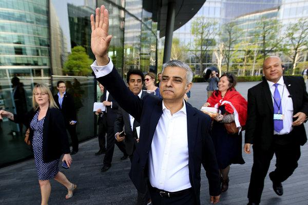 Nový starosta Londýna Sadiq Khan.