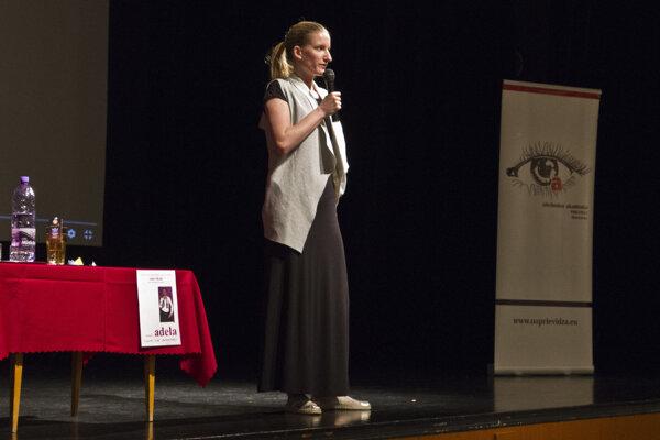 Adela Banášová debatovala so žiakmi obchodnej akadémie