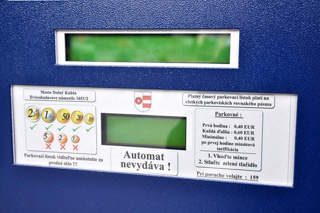 Automat mince nevydáva.