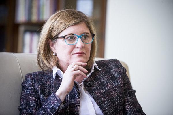 Ministerska pôdohospodárstva Gabriela Matečná