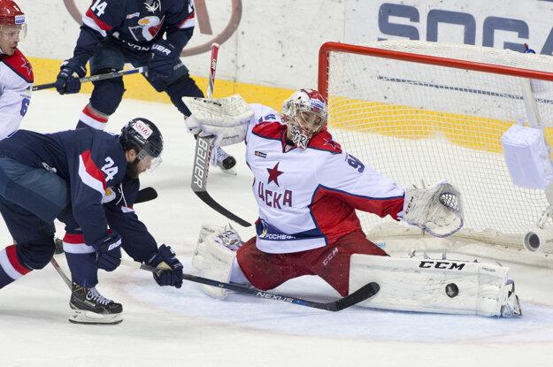 Sorokin vychytal aj strelcov Slovana v 1. kole tohtoročného play-off KHL.