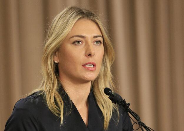 Maria Šarapovová sa k dopingovému nálezu priznala 7. marca.