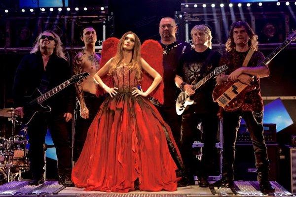 Nitrianska kapela Symfobia počas natáčania nového klipu  Bloody Wings.